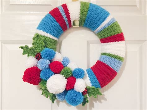 crochet pattern for xmas wreath christmas crochet wreath hello deborah