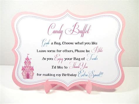 candy buffet sign birthday partybaby by