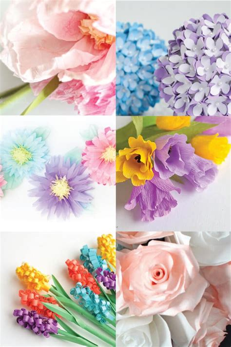 How To Make Different Types Of Paper Flowers - 25 best ideas about tissue paper centerpieces on