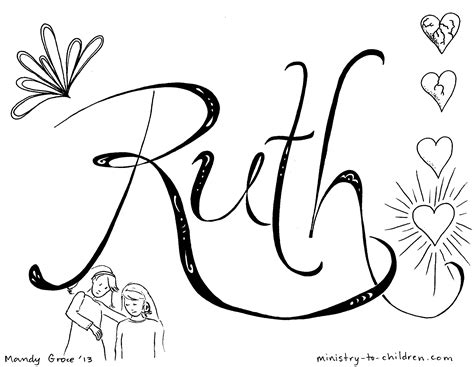 Free Coloring Pages Of Ruth In The Bible Ruth Coloring Pages
