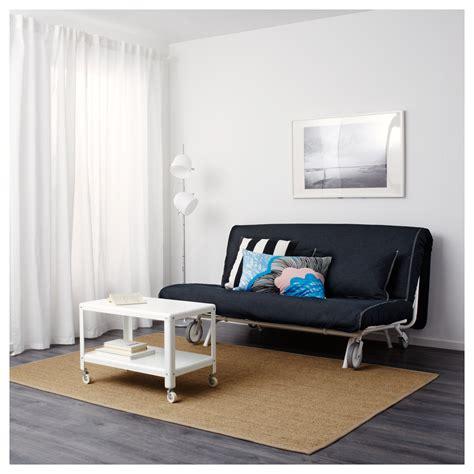 ikea ps l 214 v 197 s two seat sofa bed vansta blue ikea