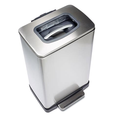 trash crusher trash krusher trash can with built in manual trash