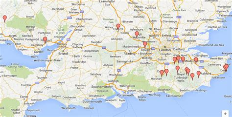 map uk south map south east cities