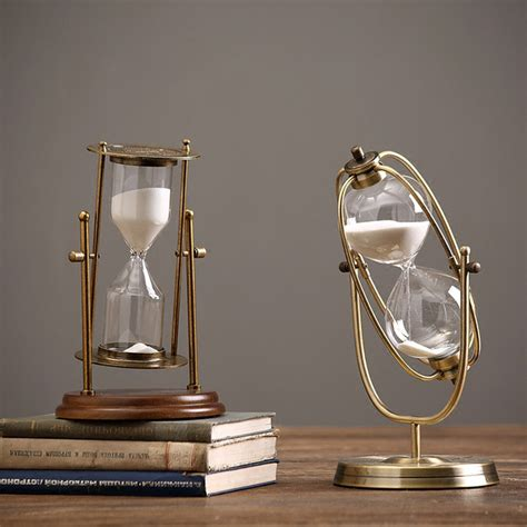 Hourglass Decor by Aliexpress Buy Nordic Simple Retro Metal Rotating