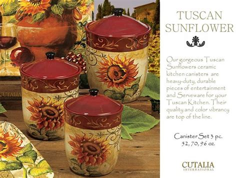 sunflower canister sets kitchen tuscan sunflower kitchen canister set 3 kitchen