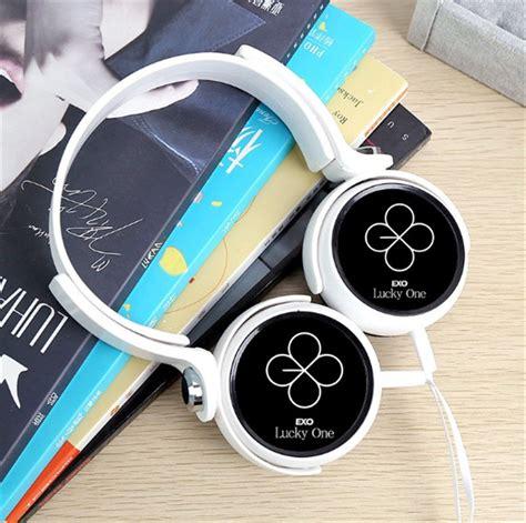 Headset Exo kpop exo ex act lucky one earphone headphone