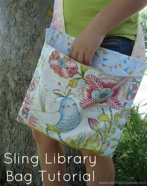 tutorial c library sling library bag tutorial craft c sewing tutorials