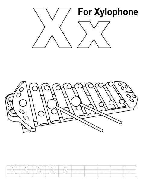 free coloring pages of xylophone xylophone coloring page az coloring pages