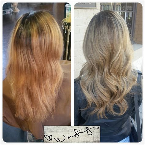 7a hair color color correction going for the career