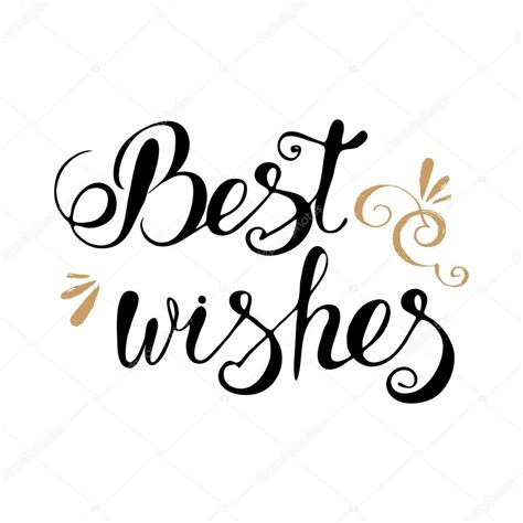 best messages best wishes lettering stock vector 169 irinaww 98935040