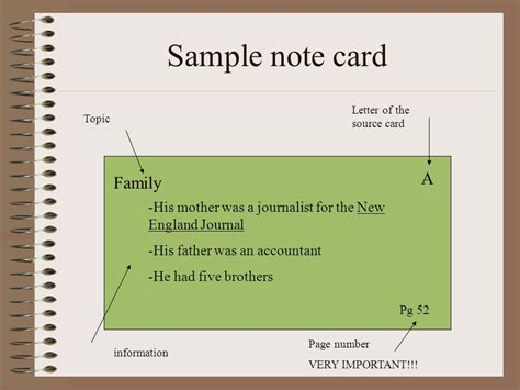 note card template for annotated bibliography bibliography cards note cards ppt