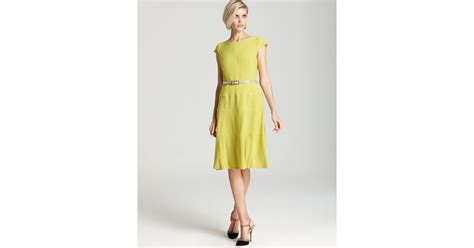 anne klein swing dress anne klein dress cap sleeve swing dress in green lyst
