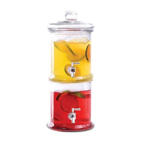 Stacked Glass L by Stacked Glass Drink Dispenser 4l Each