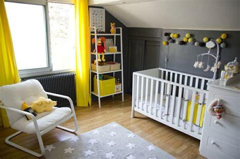 Exceptional Rideau Cuisine Moderne Jaune  #14: Chambre-b%C3%A9b%C3%A9-grise-jaune-d%C3%A9coration.jpg
