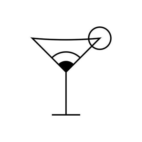 martini bar logo cocktail glass eye icon cocktailglass cocktail drink