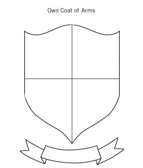 coat of arms template 12 in pdf psd eps vector