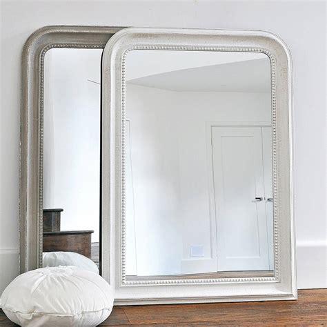 beaded wall mirror beaded wall mirror white or grey by primrose plum
