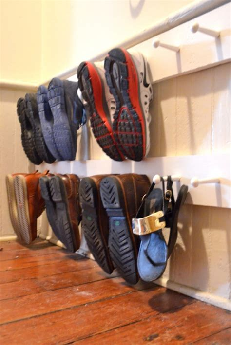 diy wood shoe rack 15 diy shoe storage solutions you can build at home