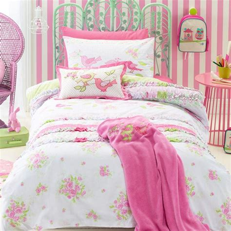discount shabby chic kids bedding set cartoon single bed