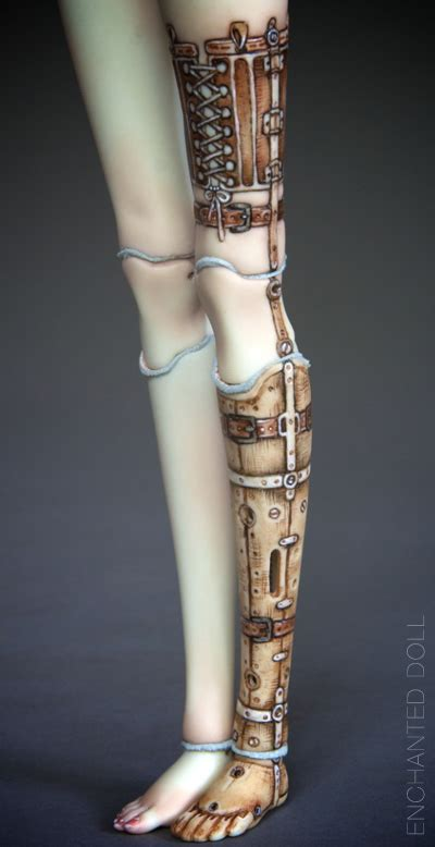 porcelain doll laser prosthetic doll leg by marina b on deviantart
