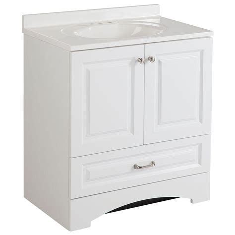 bathroom vanity cabinet   single sink white decorative efficient furniture  ebay