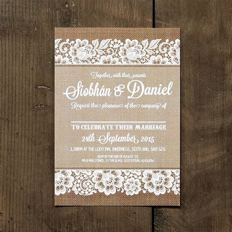Wedding Invitation Templates Burlap And Lace Wedding Invitations Easytygermke Com Invitation Burlap And Lace Template