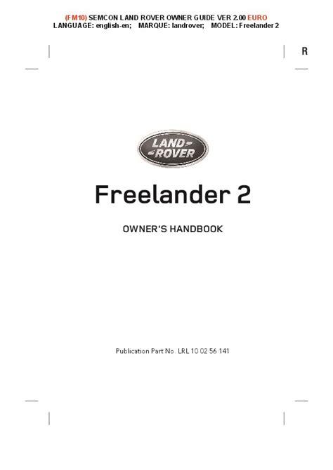 download car manuals 2008 land rover freelander user handbook 2014 2015 land rover freelander 2 handbook manual