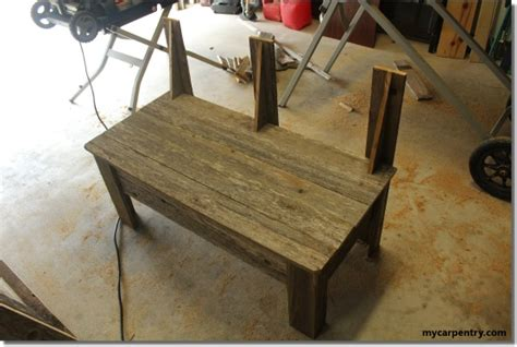 how to add a back to a bench rustic bench plans make your own bench using old fence