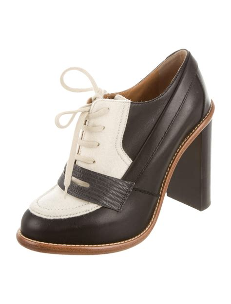 oxford pumps shoes chlo 233 leather oxford pumps shoes chl45051 the realreal