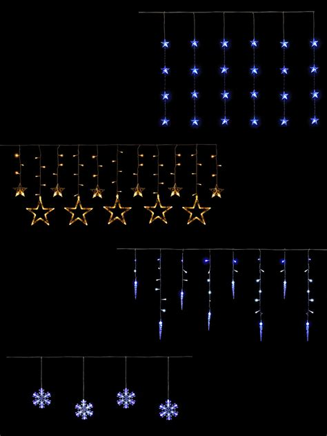 hang christmas lights on windows hanging light curtain icicle snowflake outdoor window decoration ebay