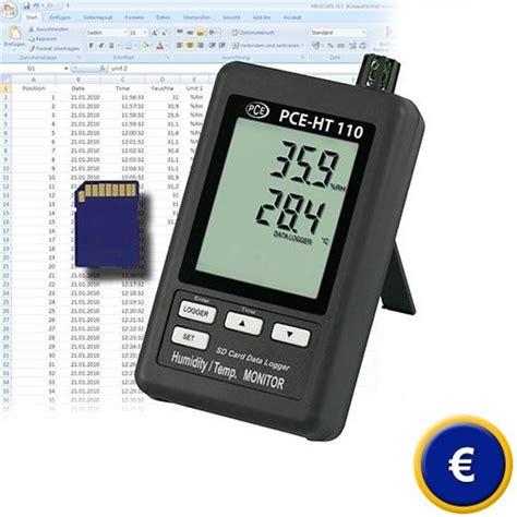 dati pra registratore dati per umidit 224 e temperatura pce ht110