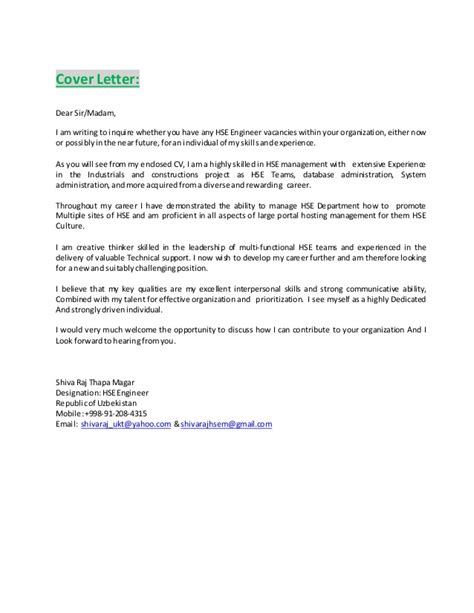 Cover Letter And Resume One Attachment Or Two Cv Attachment With Certificate Engineer