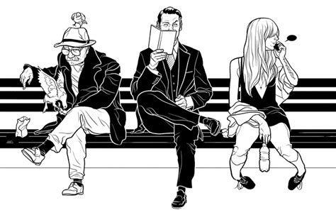 how to draw people sitting on a bench intelligencer new york magazine martin ansin