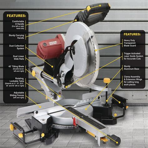 12 In Dual Bevel Sliding Compound Miter Saw With Laser