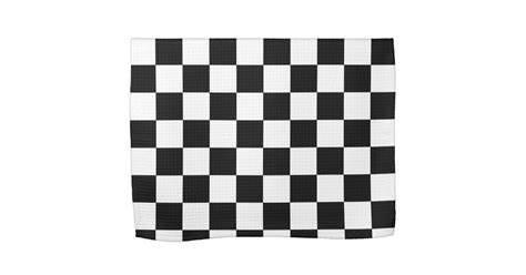 black and white pattern towels black and white checkered pattern kitchen towels zazzle