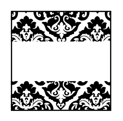 card templates free black and white damascos negros etiquetas toppers y tarjetas para
