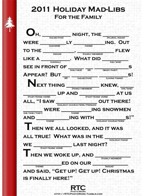 printable christmas mad libs 8 best images of blank printable christmas mad libs