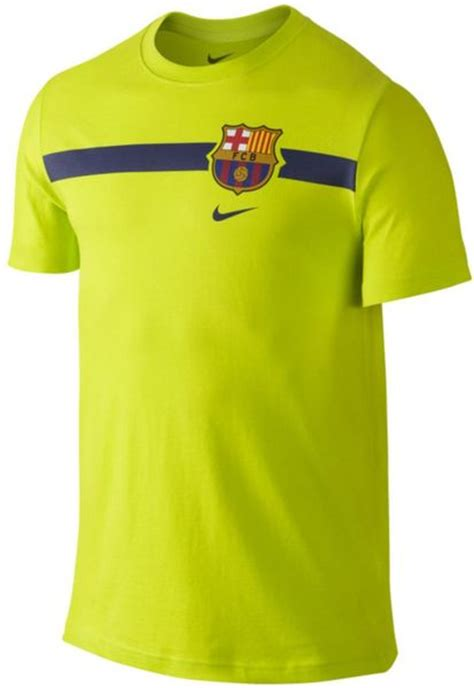 barcelona yellow nike men s fc barcelona core t shirt in yellow for men