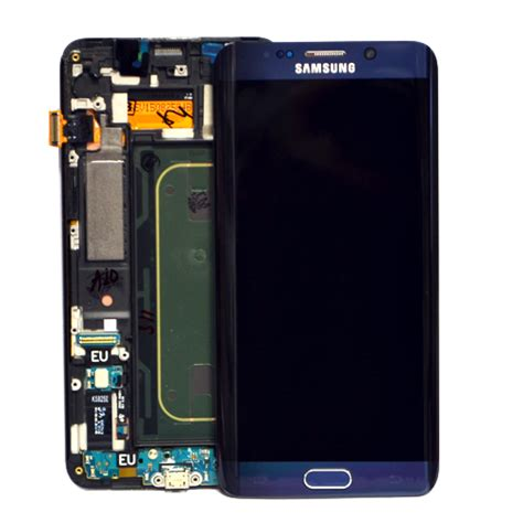 Lcd Samsung S6 Edge Plus genuine samsung sm g928f galaxy s6 edge plus lcd with touchpad frame in black part no gh97