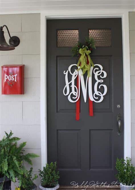 Front Door Initials A Proper Monogram Chatter Mathis Interiors