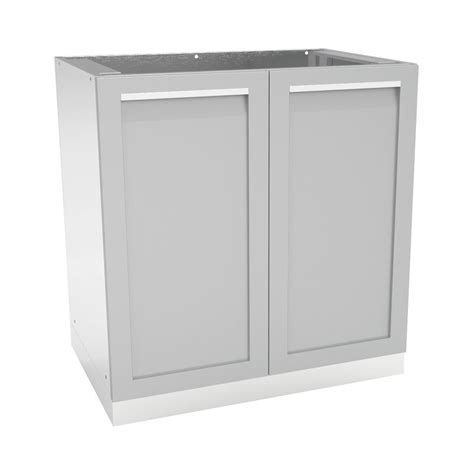 Stainless Steel Outdoor Cabinet Doors 4 Outdoor Stainless Steel Assembled 32x35x24 In Outdoor Kitchen Base Cabinet With 2