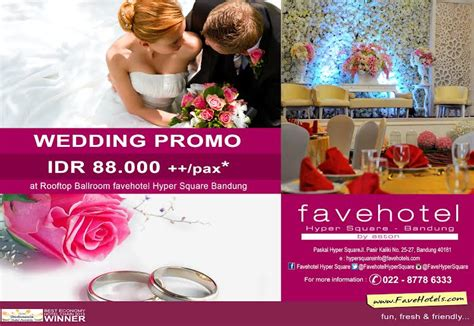 Wedding Novotel Bandung by Paket Pernikahan Hanya Rp 88 000 Pax Difavehotel Hyper