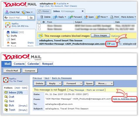 yahoo mail sg add us to address book