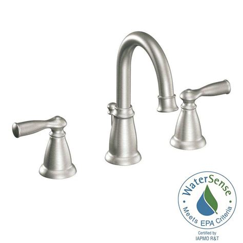 bathroom and kitchen faucets brushed nickel bathroom faucets widespread