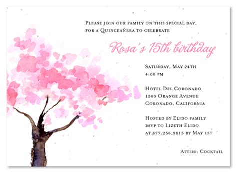 free printable quinceanera birthday cards watercolor quinceanera invitations on seeded paper