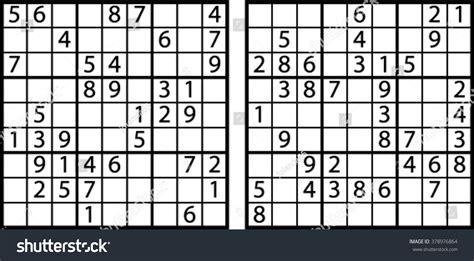 sudoku 768 symmetrical puzzles your brain sudoku your brain volume 1 books sudoku easy level stock vector 378976864