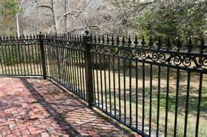 wrought iron fence designs with black paint color home