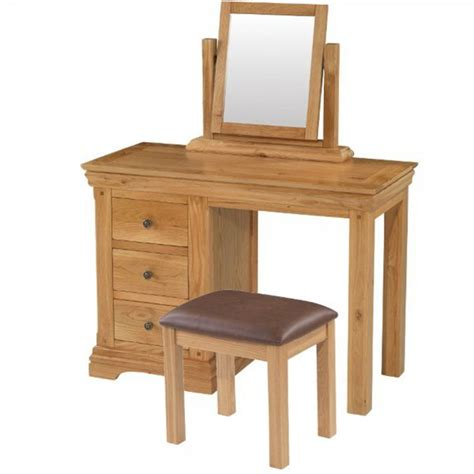 oak vanity table with mirror and bench rustic oak dressing table mirror chunky oak bedroom