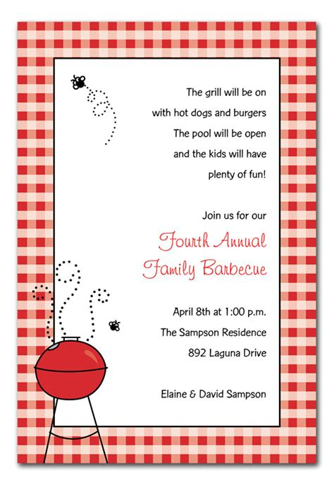 barbecue invitation template free employee appreciation bbq invitation wording