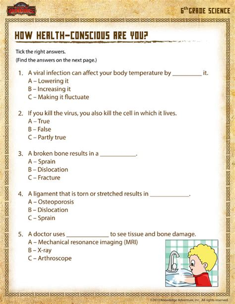 Science Worksheets For 6th Grade by 6th Grade Science Printable Worksheets